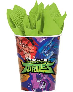8 Vasos de papel de las Tortugas Ninja