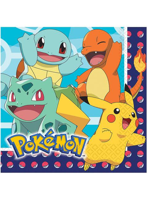 16 Servilletas de Pokémon (33x33 cm)