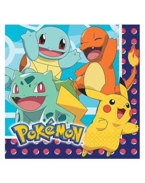 Sett med 16 Pokemon servietter