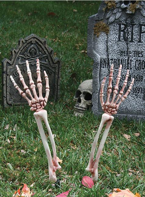 Dekorativní figura posmrtné ruce kostlivce
