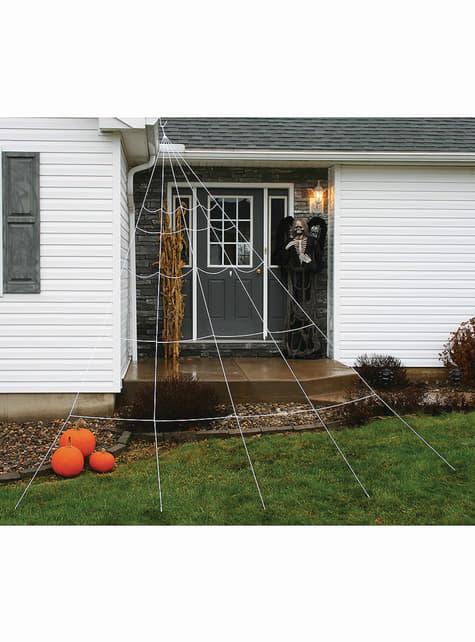 Teia de aranha gigante para telhado