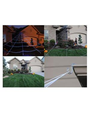 Teia de aranha hiper gigante para telhado