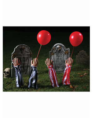 Afrterlife clown's arms decorative figure