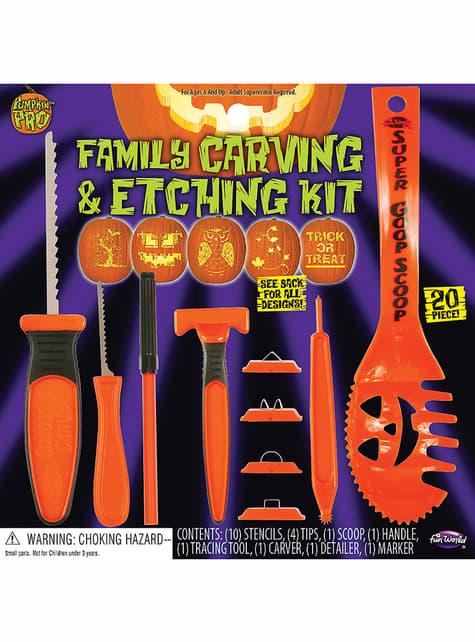 Set familiar para tallar calabazas