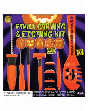 Pumpkin carving family set
