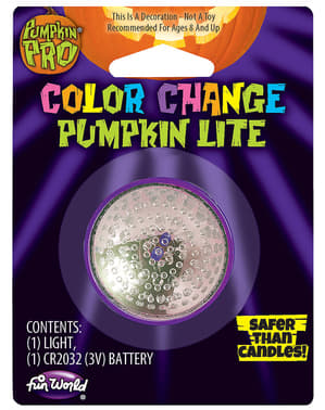 Light with multicolour candle effect for pumpkin