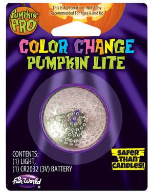 Luz com efeito vela multicolor para abóbora