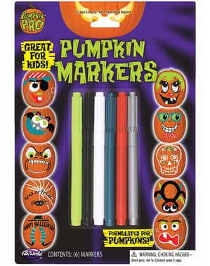 5 Halloween pompoenstiften