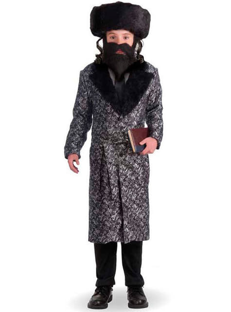 Disfraz de rabino para niño