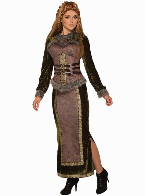 Disfraz de vikinga noble para mujer