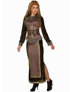 Costum de vikingă nobilă pentru femeie