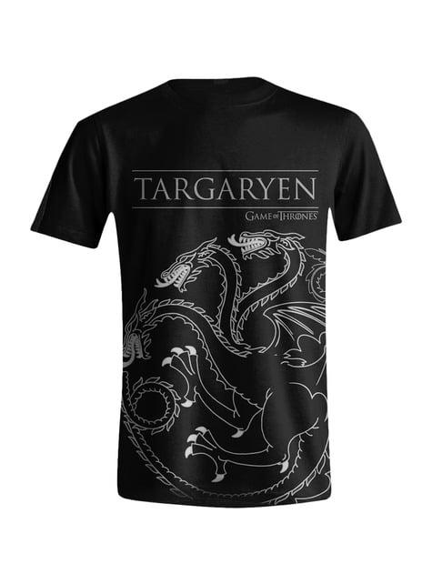 T-shirt de Game of Thrones Emblema Casa Targaryen para homem