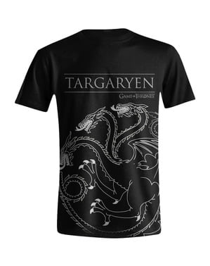 Game med Thrones House Targaryen Emblem T-Skjorte til menn