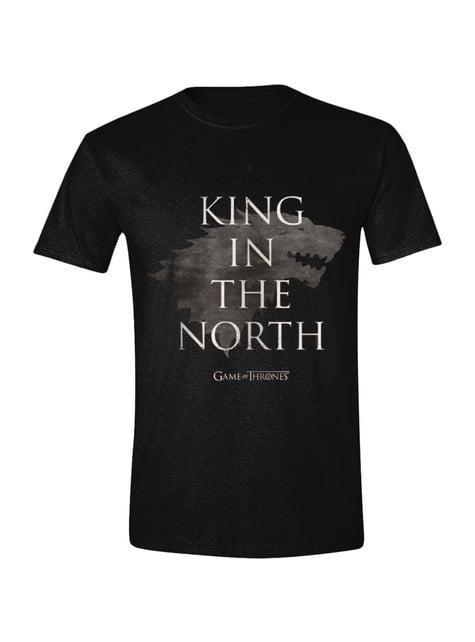 Camiseta de Juego de Tronos Rey en el Norte para hombre