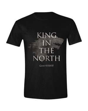 T-shirt de Game of Thrones King in the North para homem