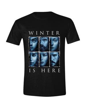Game med Thrones Winter is Here T-Skjorte til menn