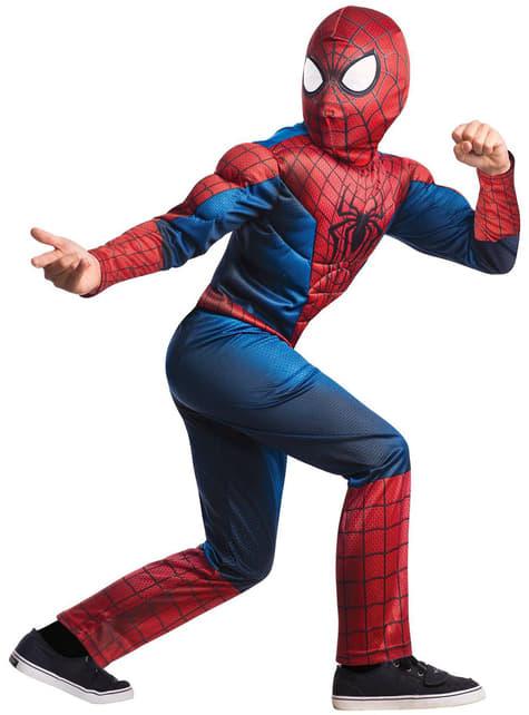 Fato The Amazing Homem-Aranha 2 deluxe para menino