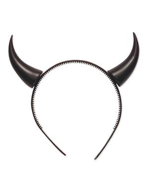 Haarband met zwarte duivelhoorns