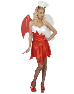 Fato de anjo e demónio sexy para mulher