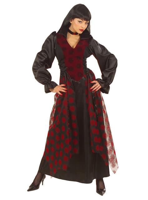 Fato de vampiresa vitoriana para mulher