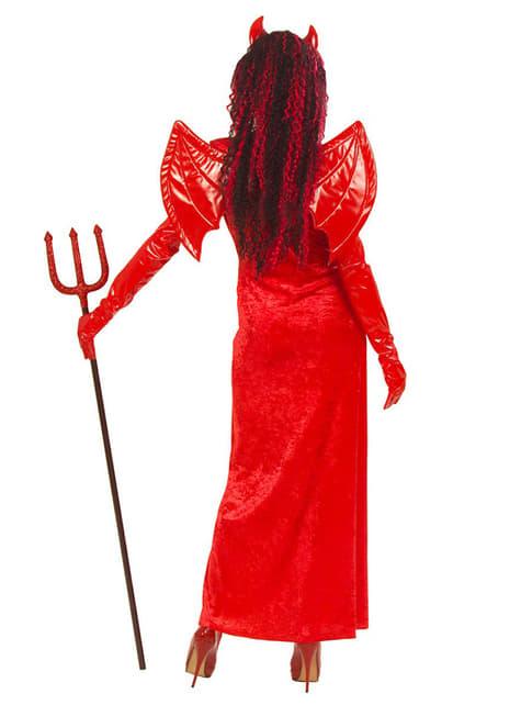 Fato de diaba gothic para mulher