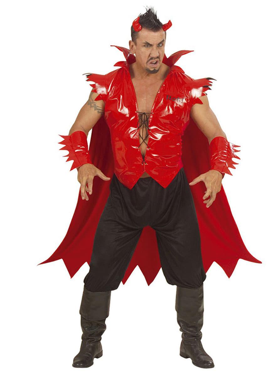 Disfraz de diablo luminoso para hombre: comprar online en Funidelia