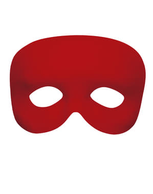 Smooth Red Masquerade Mask