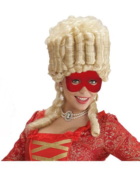 Antifaz rojo liso - para tu disfraz