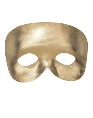 Máscara dourada lisa