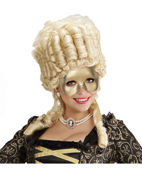 Antifaz dorado liso - para tu disfraz