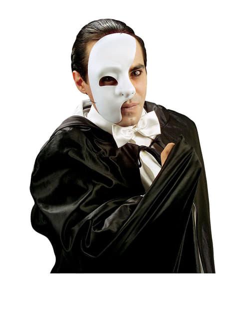 Máscara de media cara fantasma teatral - para tu disfraz