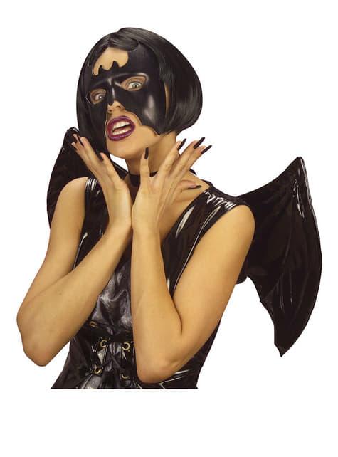 Antifaz de murciélago negro