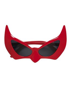 Gafas de diablo rojas