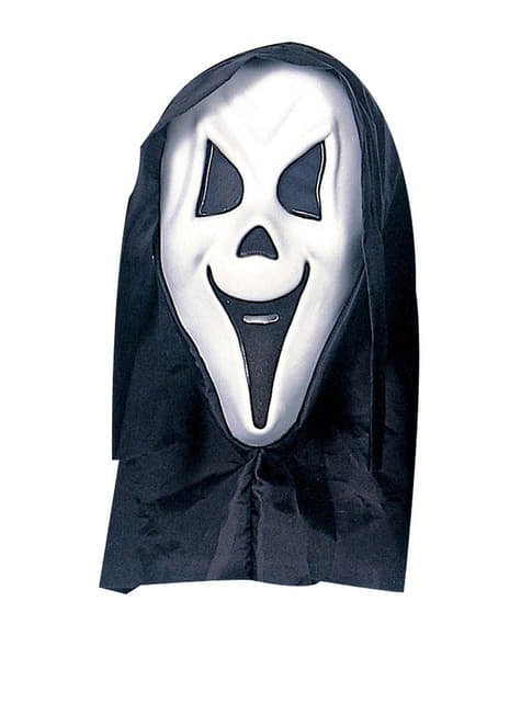 Máscara de fantasma gritón con capucha