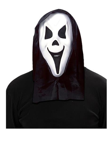 Máscara de fantasma gritón con capucha - para tu disfraz