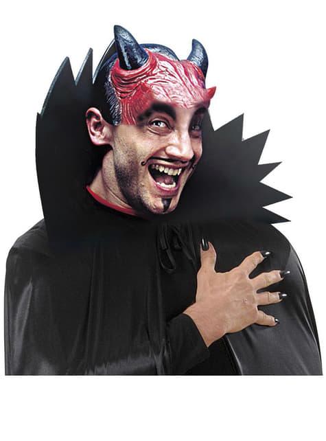 Cabeza postiza de diablo con cuernos - para tu disfraz