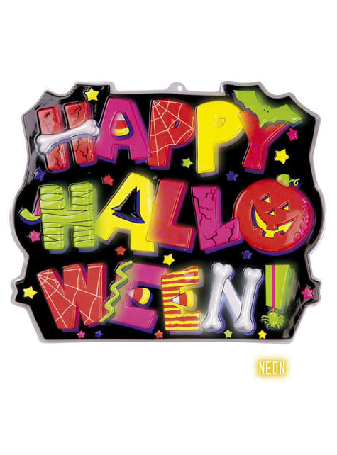 Cartel decorativo Happy Halloween