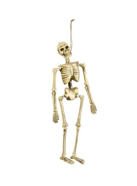 Esqueleto terrorífico colgante de 40 cm.