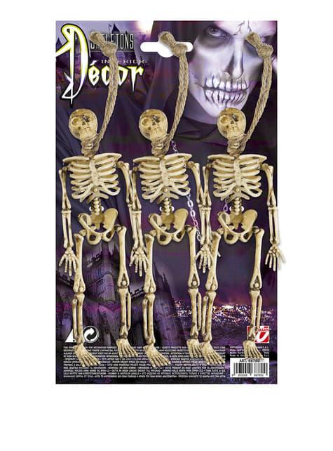 3 esqueletos colgantes (15 cm). - para tus fiestas