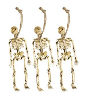 Sæt af 3 hængende skeletter 15 cm