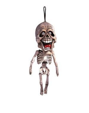 Esqueleto cabeçudo pingente de 60 cm.