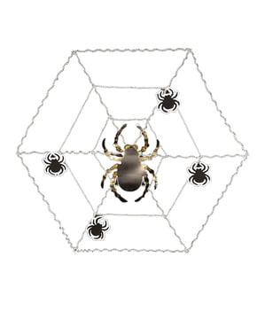 Teia de decoração com aranha