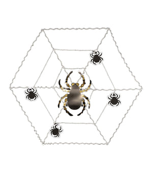Toile d'araignée décorative avec araignée