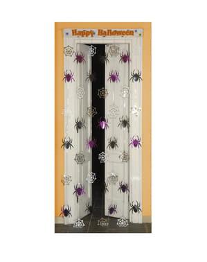Шторка з павуками на двері: Happy Halloween