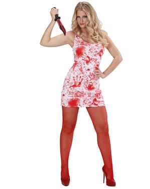 Blutiges Mörderin Kostüm für Damen