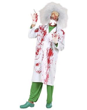 Fato de doutor assassino ensanguentado para homem
