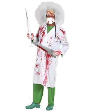 Blodig morderisk doktorkostume til mænd