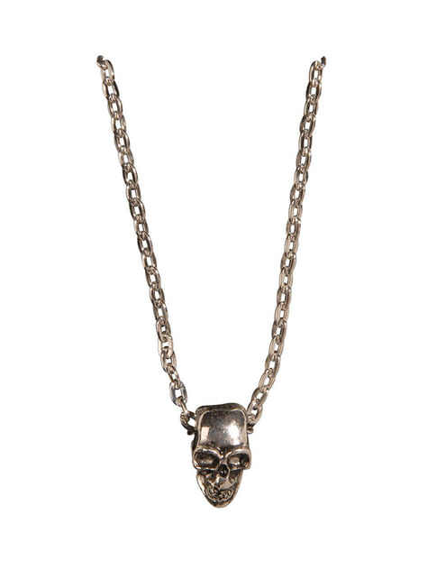 Gold Skull Chain Necklace