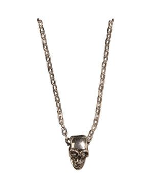 Naszyjnik łańcuch z czaszek złoty