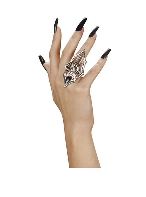 Silver Cobweb Ring